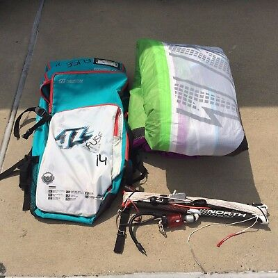 North Fuse Kiteboarding Kite 14m Complete with bar and lines, and bag
