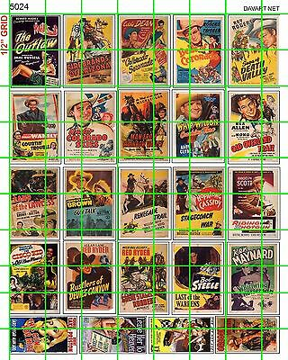 5024 DAVE'S DECAL S O LG VINTAGE WESTERN CLASSIC MOVIE POSTER SIGN 1940's 1950's