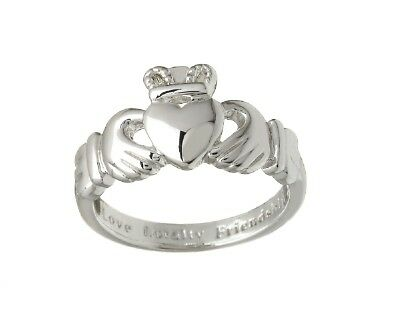 New Ladies Claddagh Ring Silver Plated From Ireland Under $25