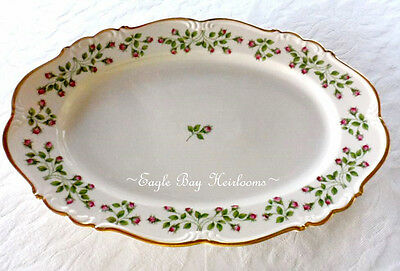 """OVAL SERVING PLATTER 13"""" Edelstein Bavaria Maria Theresia #17445 HEDGEROSE Pink"""