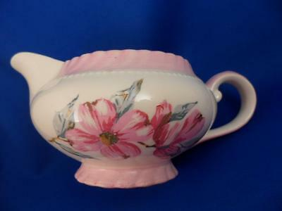 CREAM PITCHER Steubenville MONTICELLO DOGWOOD PINK Imported by Herman C. Kupper