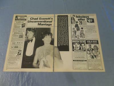Chad Everett marriage  clipping  #306