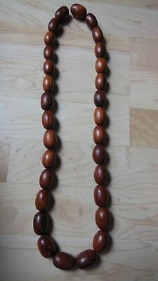 KOA WOOD Wooden Necklace HAWAII Hawaiian