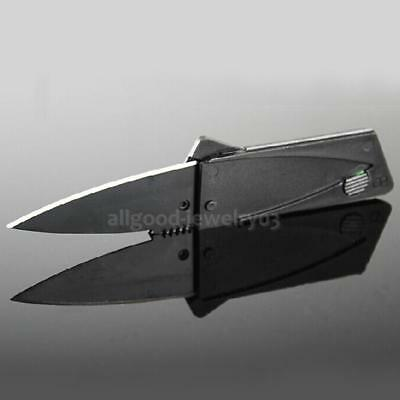 Portable Outdoor Camping Hiking Safety Credit Card Foldable Blade Knife Black
