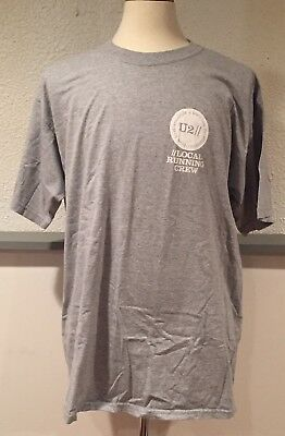 U2 Local Running Crew How To Dismantle An Atomic Bomb Tour Production T-Shirt XL