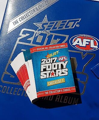 2017 AFL SELECT FOOTY STARS COMMON CARDS 1 TO 221  (6 Cards For $1 )