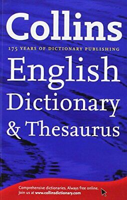 Collins English Dictionary and Thesaurus Book The Cheap Fast Free Post