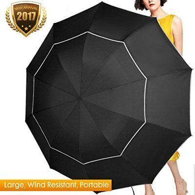 "Fit-In Bag Golf Umbrella Compact & Lightweight 63"" Rain/Wind Resistant Double Ca"