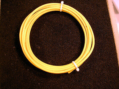10 Awg  Mil Spec (M16878/4 Xe)  Ptfe Tefflon Silver Plated Wire  10 Feet  Yellow