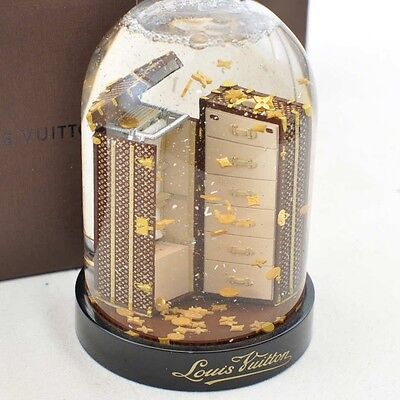 Authentic  Louis Vuitton Novelty Snow Globe Dome VIP Trunk #S1241