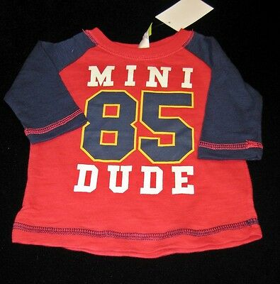 k2207 Size 000 DYMPLES two tone red and navy tee Mini Dude
