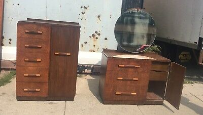 Rare Old Art Deco Bedroom Set Chest And Dresser Shipping Ok ? Zip