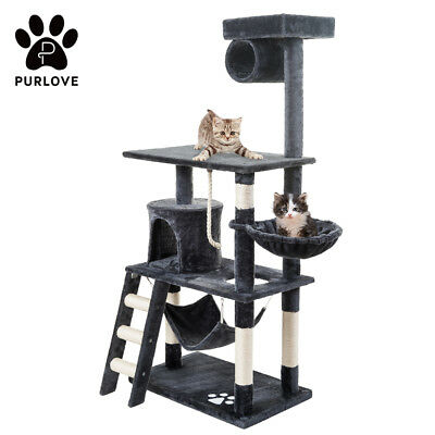 Kitten Cat Tree Scratcher Activity Centre Scratching Post Climing Toy Bed Sisal