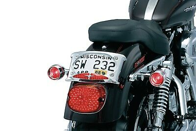 Kuryakyn Curved License Plate Frame with Dual Accent Lighting