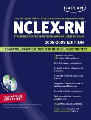 Kaplan NCLEX-RN Exam 2008-2009 with CD-ROM: Strate