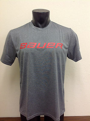 Bauer Hockey Sport SS Shirt Gray/Red