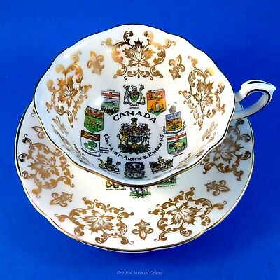 Canada Coats of Arms & Emblems Paragon Tea Cup and Saucer Set