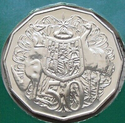 Uncirculated 1985 Australia Fifty 50 Cent Coin - Ex Mint Set - Low Mintage