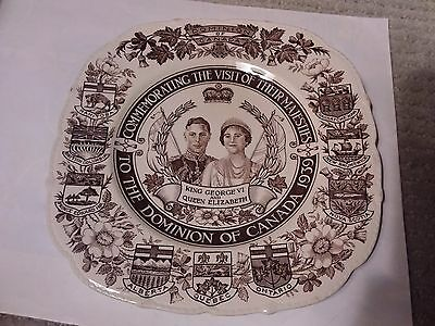 King George Vi And Queen Elizabeth Plate  - 8 3/4 Inches