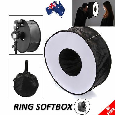 "45cm/18"" Lens Ring Speedlight Flash Softbox Diffuser Reflector for Macro Shoot"