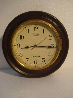 LARGE - Vintage Style SMITHS  LONDONG Wall Clock - Wooden & Brass (2796)
