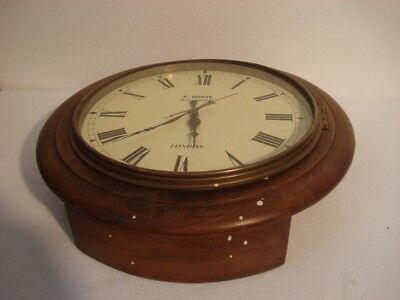 LARGE - Vintage Style  LONDON Wall Clock - Wooden & Brass (2805)