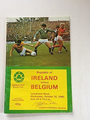 Republic of Ireland v Belgium 1980-81 World Cup qualifier