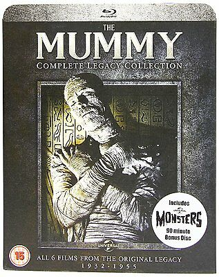 THE MUMMY Complete Legacy Collection 1932-1955 BOX 5 BLURAY in Inglese NEW .cp
