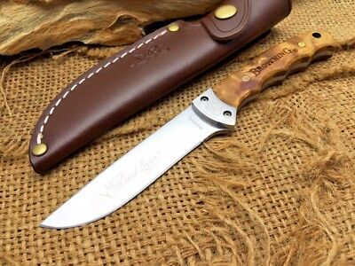 BROWNING Hunting Fixed Blade Knife,7Cr17Mov Blade, Wood Handle, 58HRC
