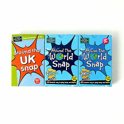 UK and World Geography Card Games Age 7+ Snap and Memory Pairs Game Brainbox