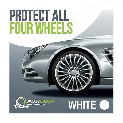 Alloygator Alloy Wheel Rim Protection System Set Of 4 In White