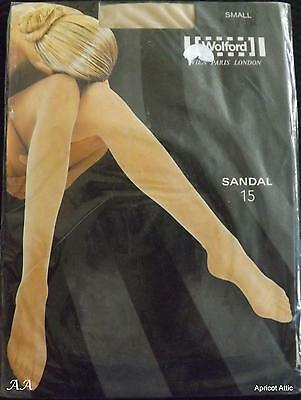Wolford SANDAL 15 Tights Small COSMETIC Unworn Bridal Transparent & Natural