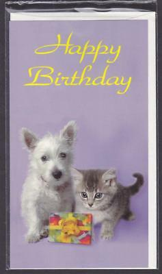 *TELSTRA LIMITED EDIT.$5 CARD.HAPPY BIRTHDAY PACK.CAT&DOG.IN SEALED PACK.c1993.*