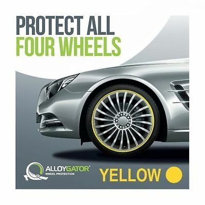 Alloygator Alloy Wheel Rim Protection System Set Of 4 In Yellow