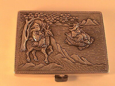 Solid Silver Chinese/ Japanese Cigarette case