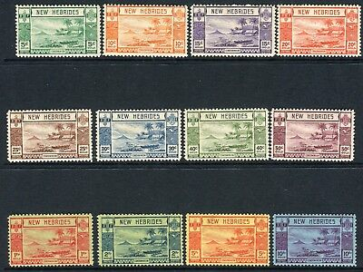 NEW HEBRIDES-1938  A mounted mint set to 10f Sg 52-63