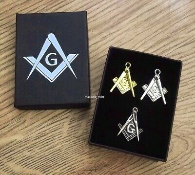 Masonic Pocket Watch Fob Pendant Set ( Gold / Silver / Antique ) Square Compass