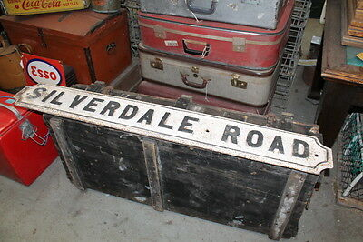 antique cast iron road sign