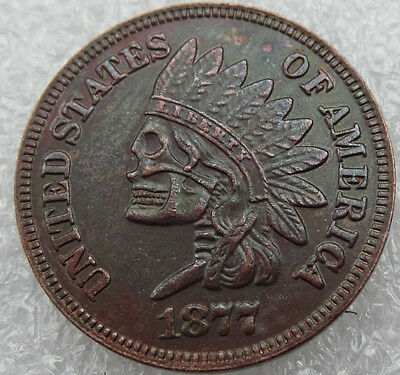 1877 Hobo Indian Head Penny