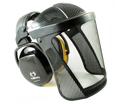 Hellberg visor with nylon mesh visor Secure 2 headband earmuff for medium noise