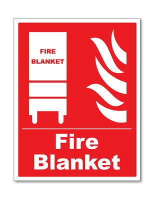 Fire Blanket Sign Self Adhesive Stickers Safety Signs