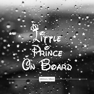 Cool Little Prince on Board Baby Car window Sticker V Vinyl Decal Free postage