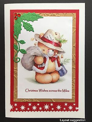 CHRISTMAS CARD TOPPERS X 4 AUSTRALIANA DOWN UNDER FOR OVERSEAS from Australia
