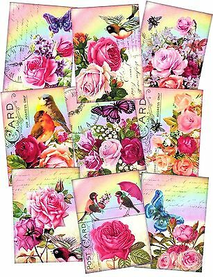 NEW STUNNING BUTTERFLIES CARD TOPPERS x 9 PIECES GORGOUS COLOURS FOR GREAT CARDS
