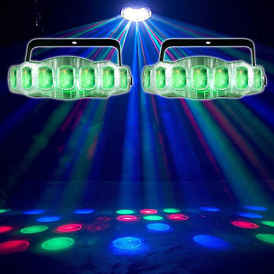 (2) American DJ ADJ Jellyfish IR RGBW DMX Dance Floor Moonflower Effect Lights