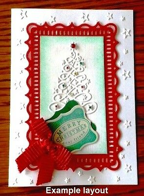 Christmas Red Card Toppers X 5   Make Your Christmas Cards Classy