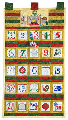 Beautiful Christmas Advent Calendar embroidery on CD.