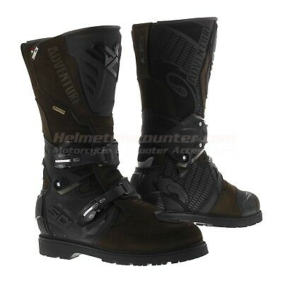 Sidi Adventure 2 Gore-tex Goretex Motorcycle Boots Brown, Fast 'N Free Shipping