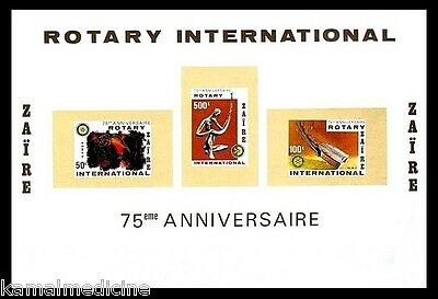 Zaire MNH Imperf SS, Rotary International, Music Instruments  -  Ro13