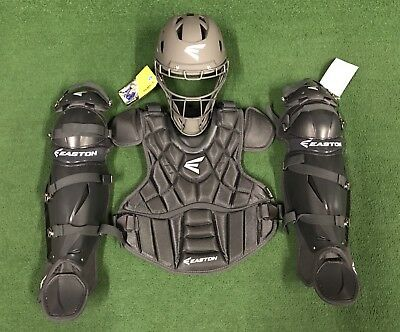 Easton Prowess Womens Intermediate Fastpitch Softball Catchers Set Charcoal Grey